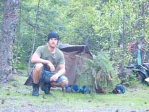1ste bivak solo trektoch canada